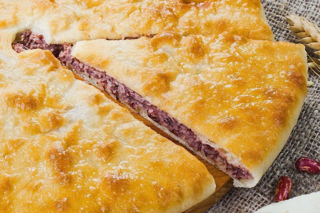 Начинка осетинского пирога с фасолью и сыром