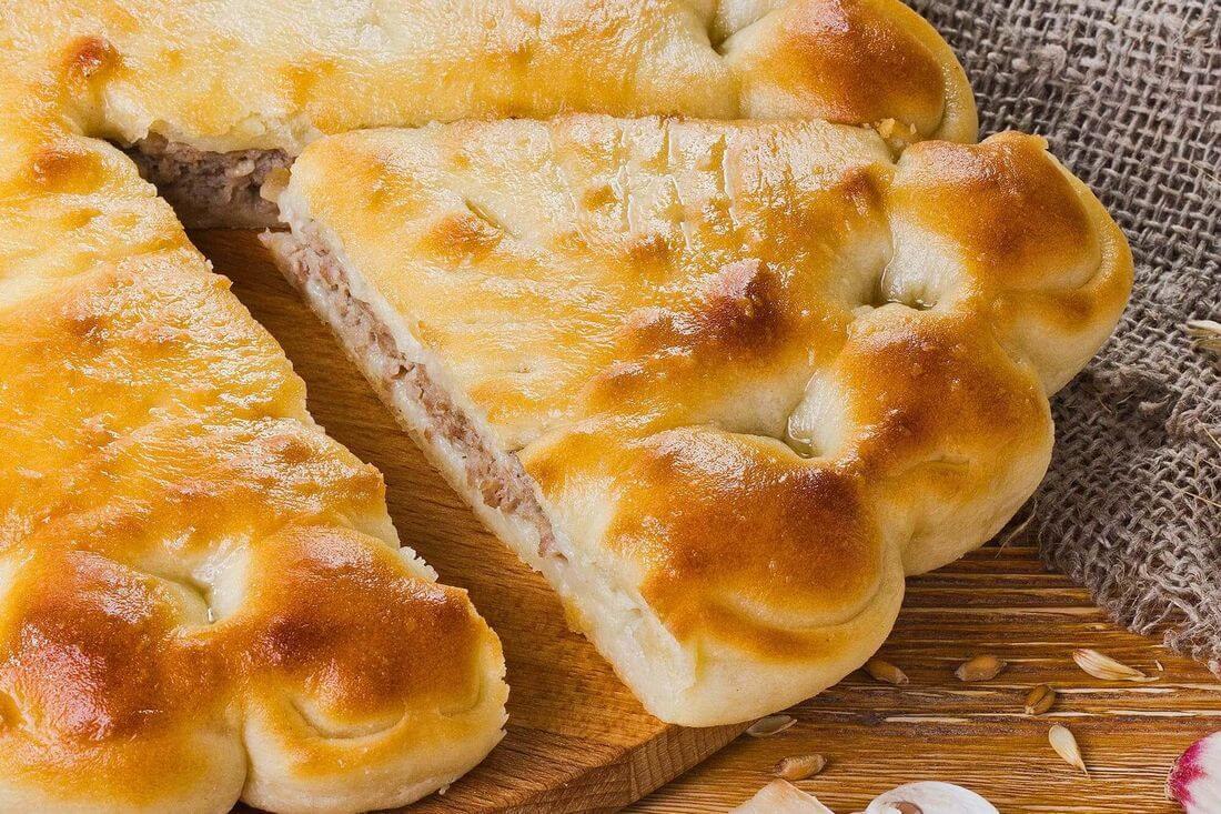 Начинка осетинского пирога с говядиной и грибами