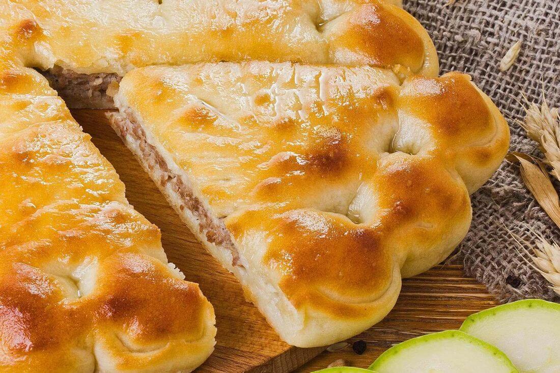 Начинка осетинского пирога с говядиной и кабачками