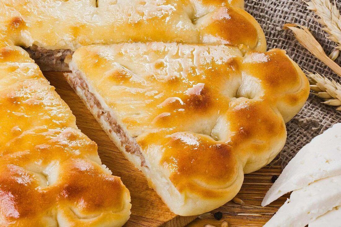 Начинка осетинского пирога с говядиной, кабачками и сыром