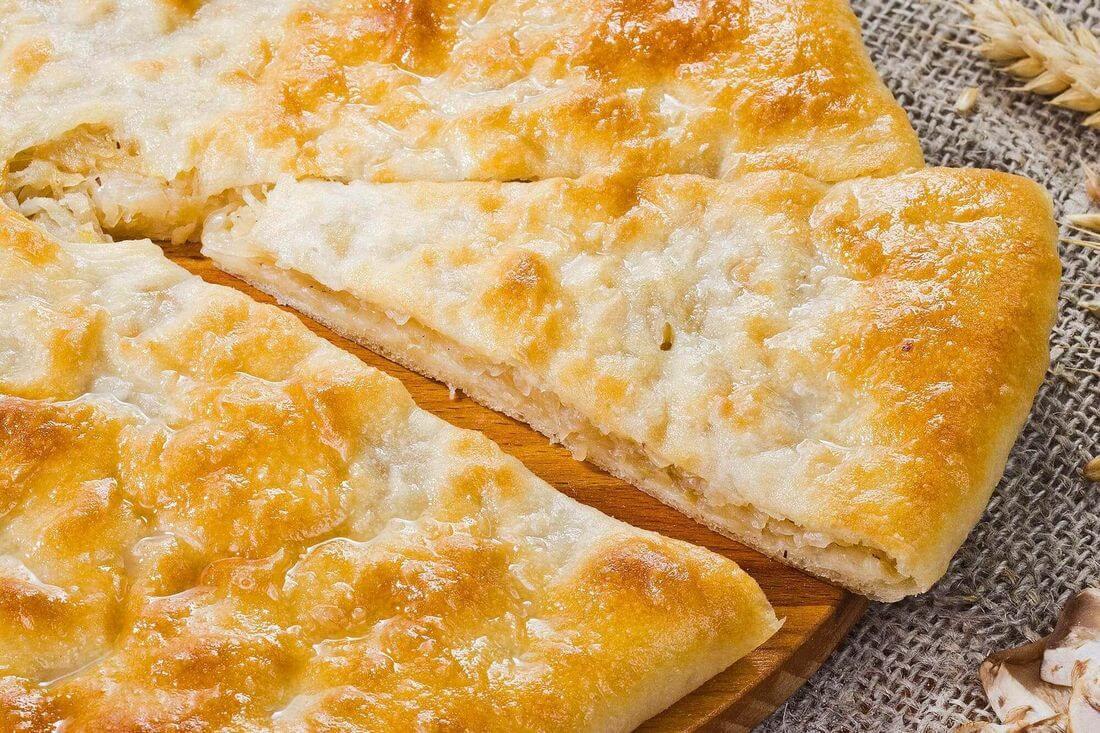 Начинка осетинского пирога с грибами и жареным луком