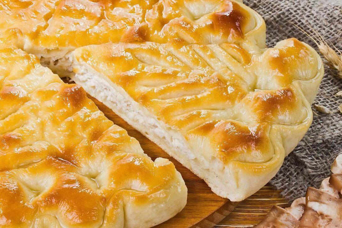Начинка осетинского пирога с индейкой и грибами