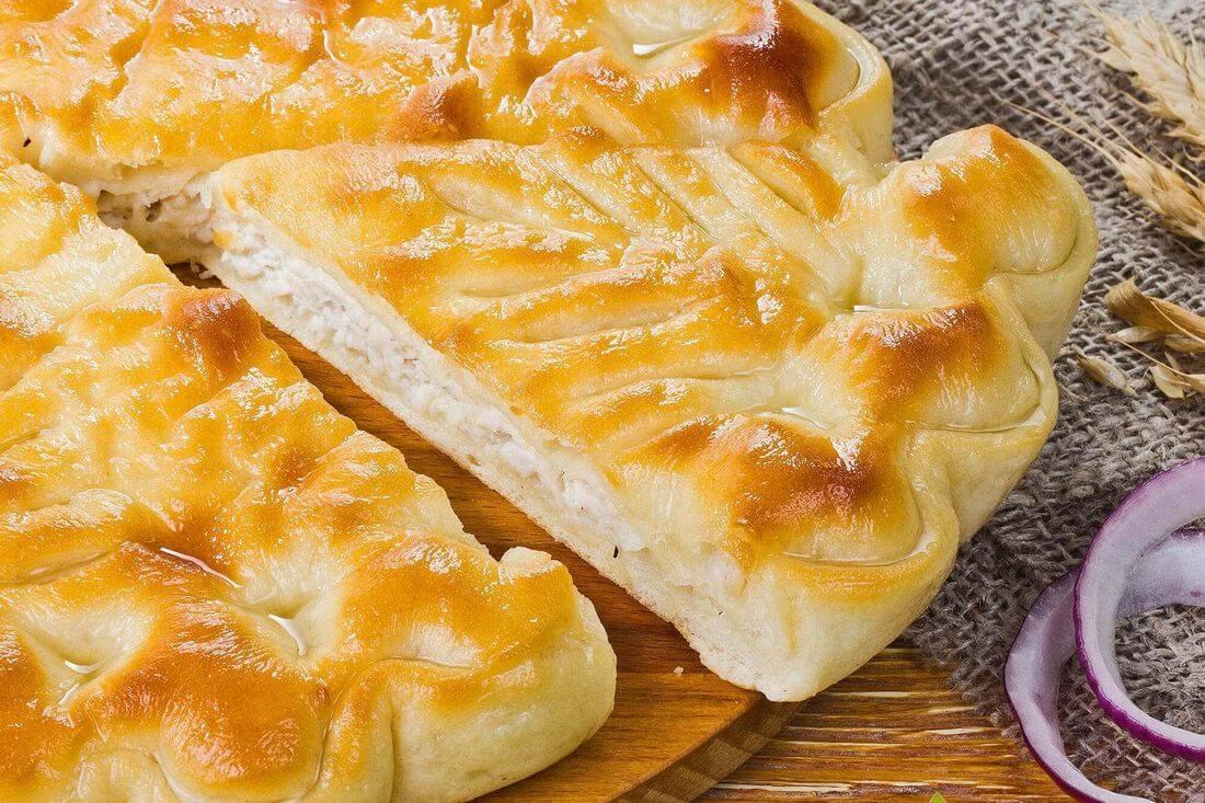 Начинка осетинского пирога с индейкой и капустой