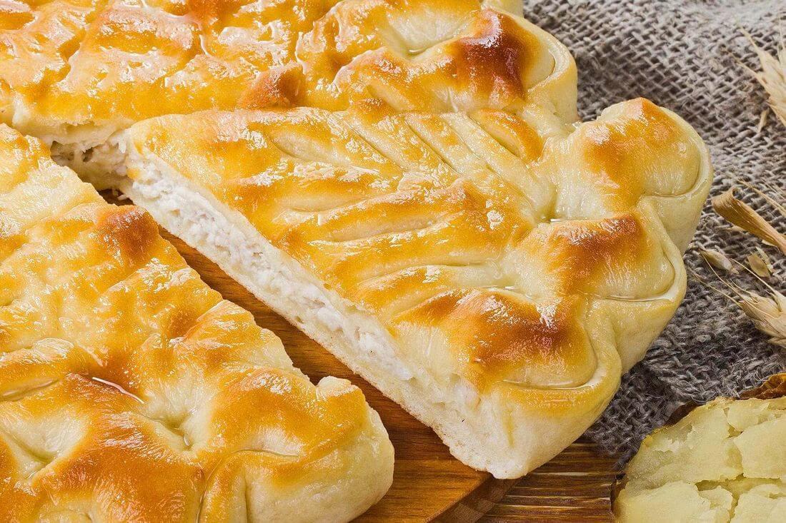 Начинка осетинского пирога с индейкой и картофелем