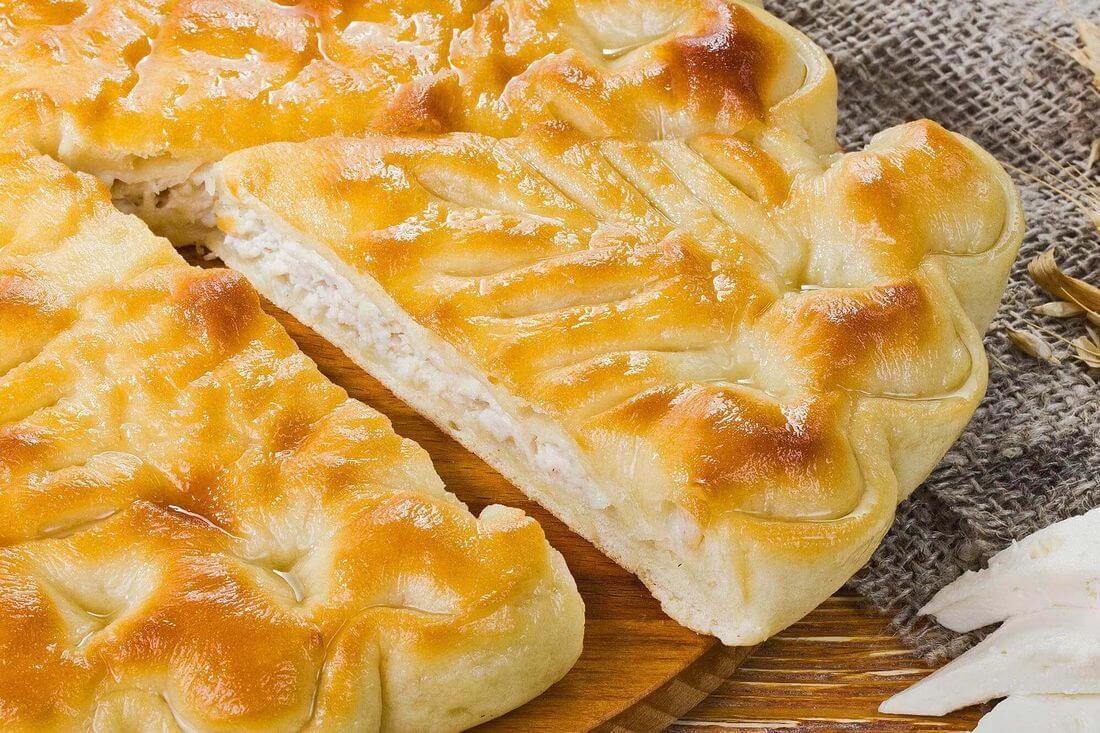 Начинка осетинского пирога с индейкой, капустой и сыром