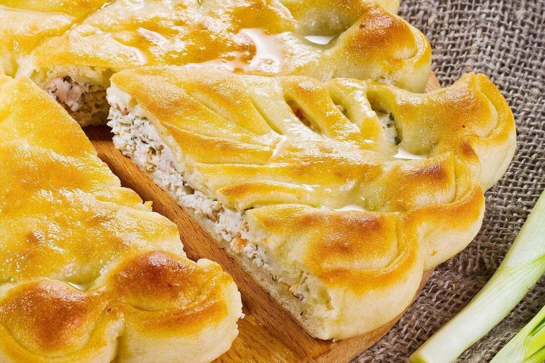 Начинка осетинского пирога с курицей и болгарским перцем