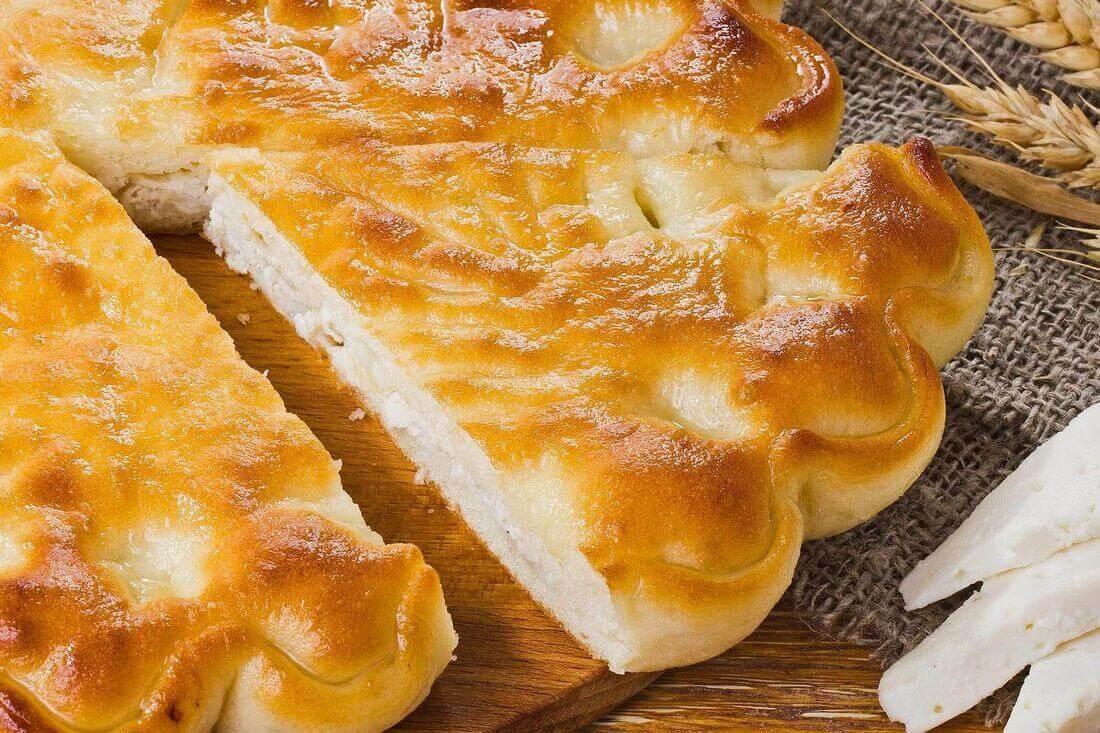 Начинка осетинского пирога с курицей, сыром, грибами