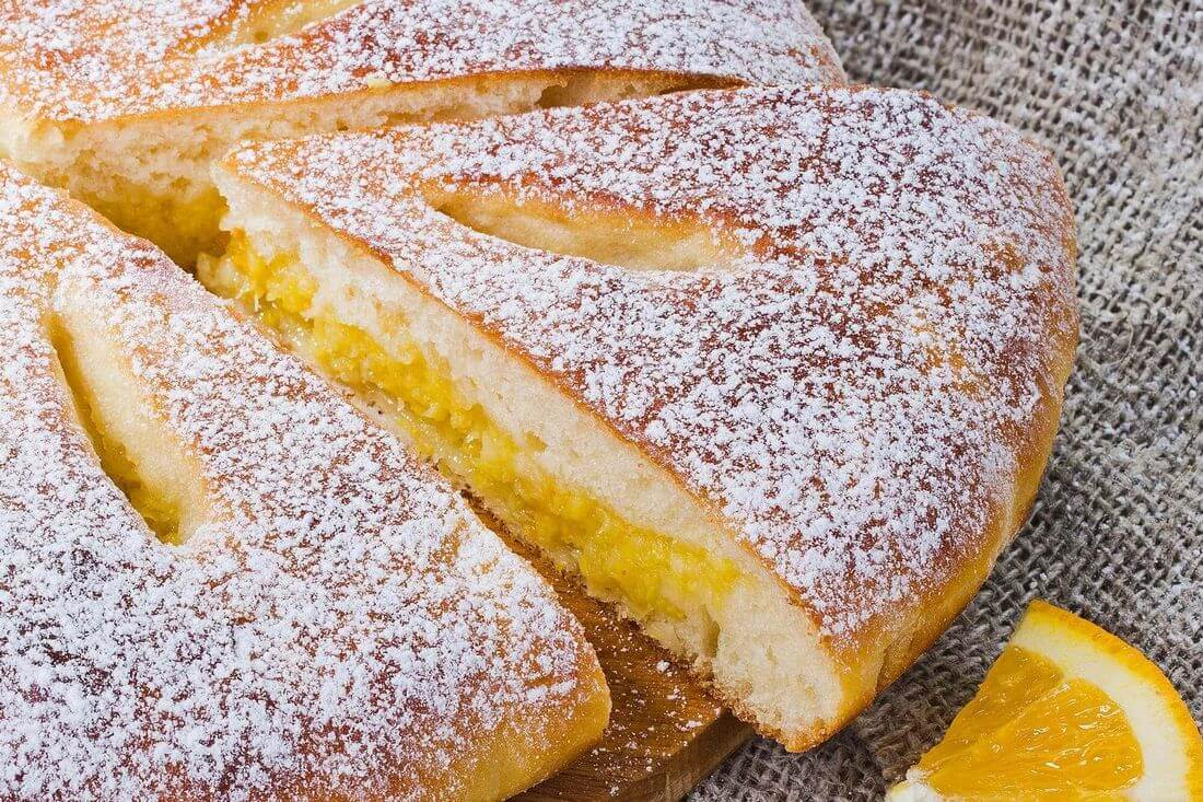 Начинка осетинского пирога с лимоном и апельсином