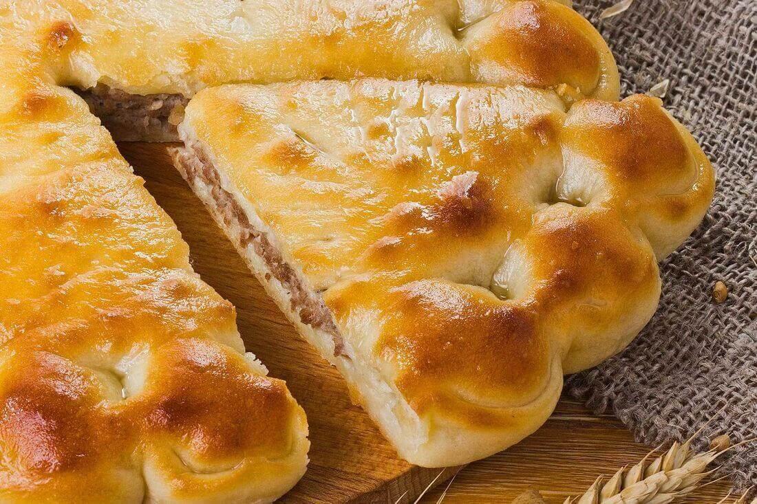 Начинка осетинского пирога с печенью говяжьей (ливером)