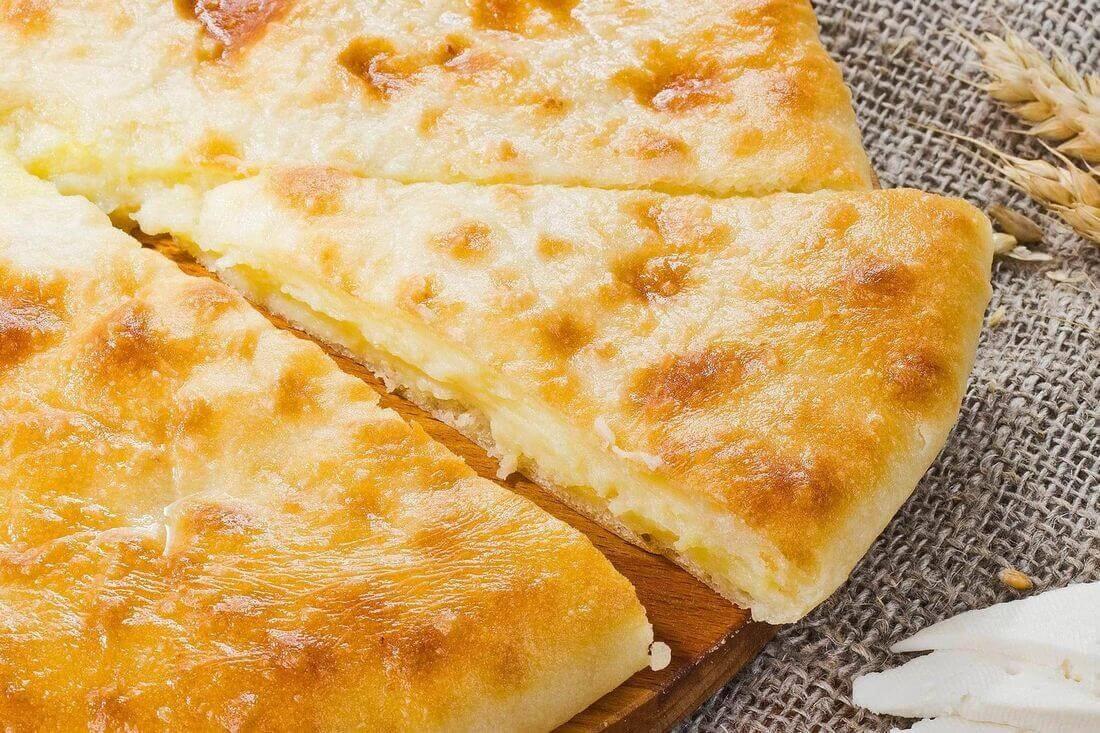 Начинка осетинского пирога с сыром и грибами