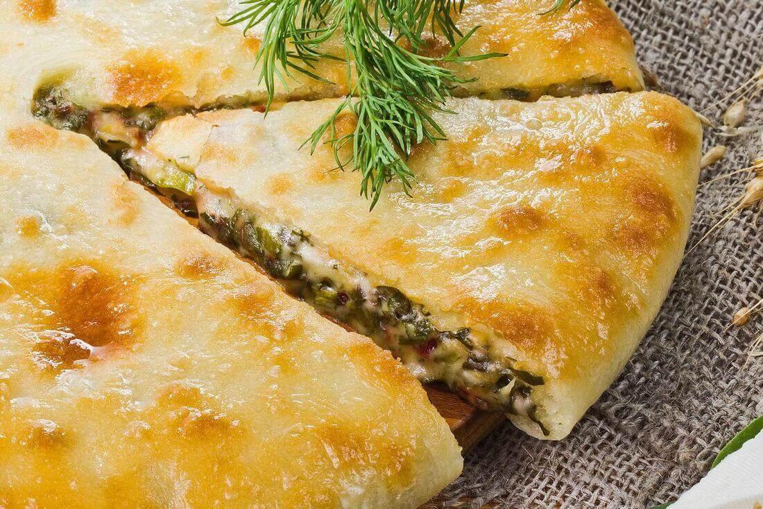 Начинка осетинского пирога с сыром и шпинатом