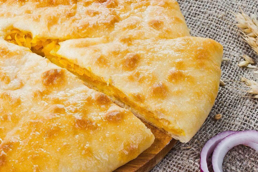 Начинка осетинского пирога с тыквой и жареным луком