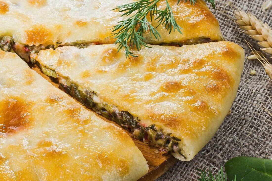 Начинка осетинского пирога с зеленью
