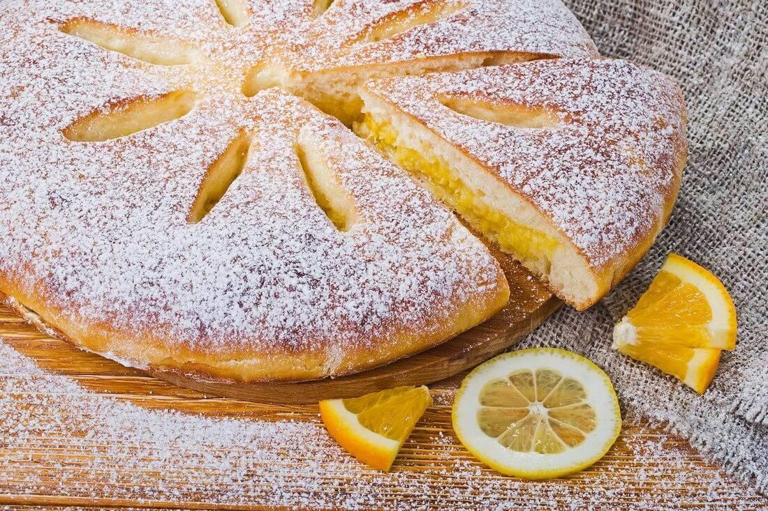 Осетинский пирог с лимоном и апельсином