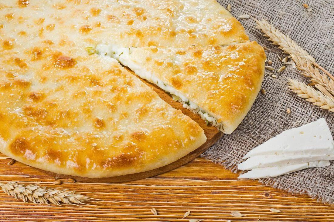 Осетинский пирог с сыром осетинским (уалибах)
